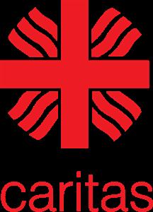 Rotes Kreuz, aus deren Kreuzungspunkt je drei rote Wellen nach außen gehen.